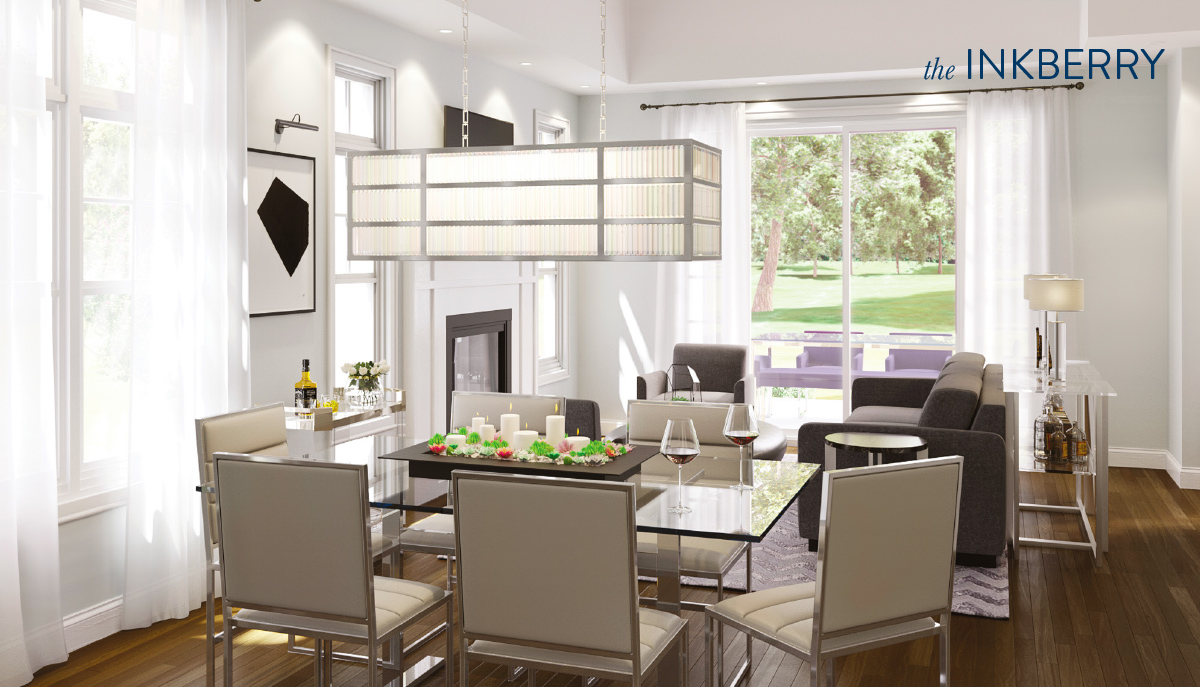 Living/dining room rendering